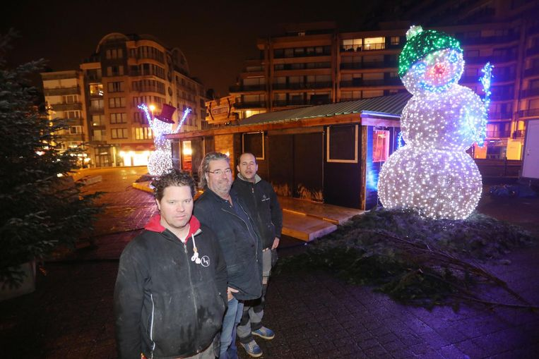Anthony Varilone, Hugues Vanherck en Clint Varilone van de Ice Bar XL.
