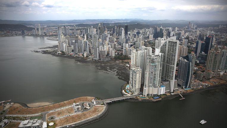 De skyline van Panama City. Panama kwam symbool te staan voor belastingparadijzen door de onthullingen in de Panama Papers. Beeld getty