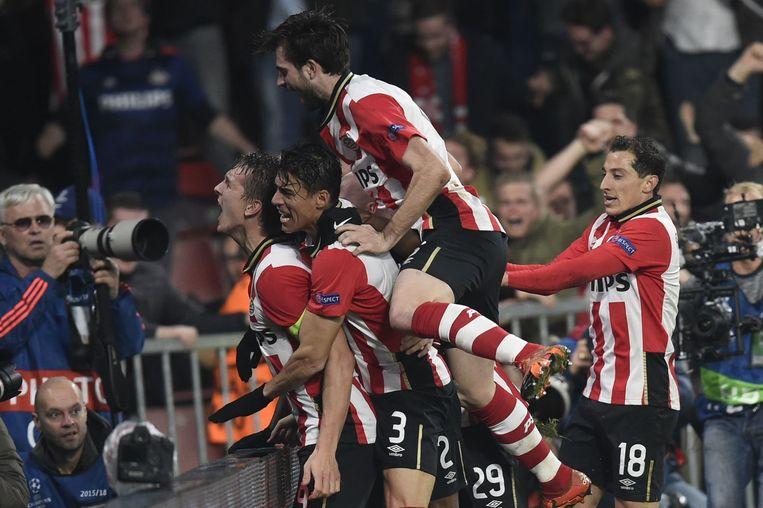 PSV viert de overwintering in de Champions League. Beeld null