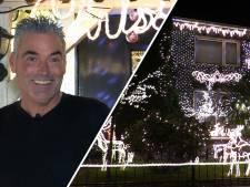 De woning van Mark uit Vught licht volledig op richting de kerstdagen: 'We staan zo in de spotlights'