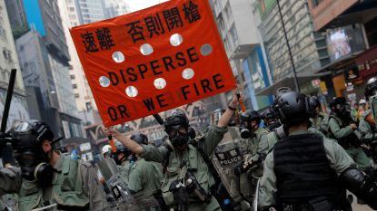 Politie Hongkong weer in actie tegen betogers