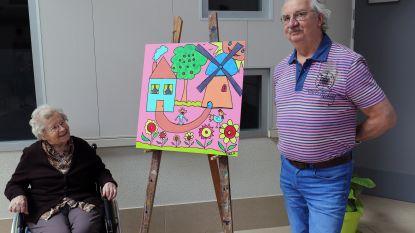 """Bewoners woonzorgcentrum Wedbos werken kunstwerken voor De Kleine Parade af tijdens coronacrisis: """"Kleurrijke werken die boodschap van hoop uitstralen"""""""