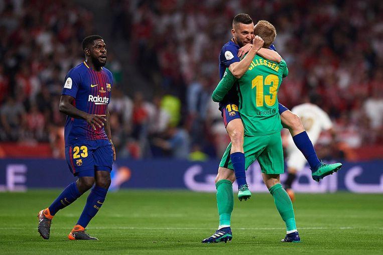 Cillessen in april na de Spaanse bekerfinale, die Barcelona met 5-0 van Sevilla won. Beeld Pro Shots