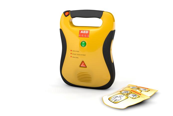 Automatische externe defibrillator.