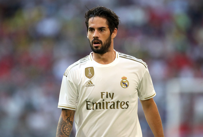 Isco in het shirt van Real Madrid.