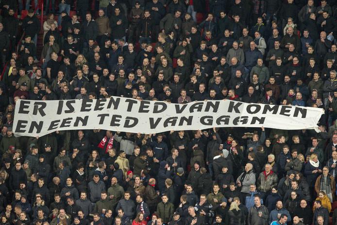 Ted van Leeuwen is de gebeten hond bij de Twente-fans.