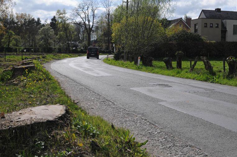 Het wegdek in Appensvoorde is het betere patchwork: op talloze plaatsen is de straat tijdelijk hersteld.