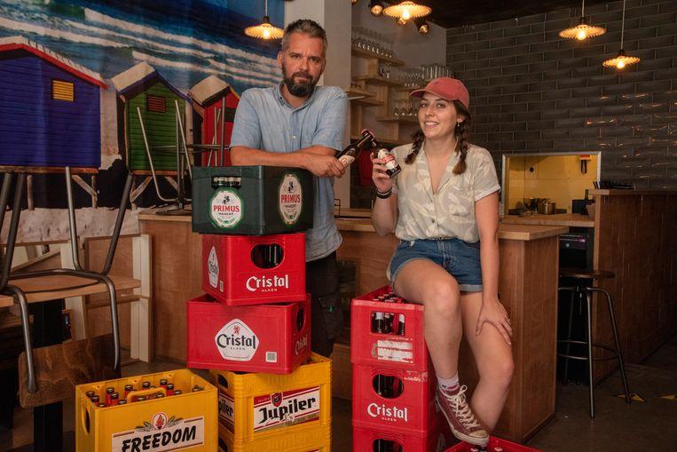 Ben en Emma De Kestelier in pop-up Copain in Wetteren.