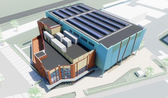 Het ontwerp van Het Sporthuis Abcoude.