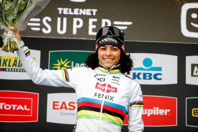 Ceylin del Carmen Alvarado won de Superprestige vorig seizoen bij de vrouwen.