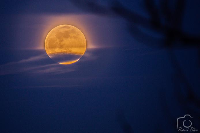 Patrick maakte deze prachtige foto van de maan.