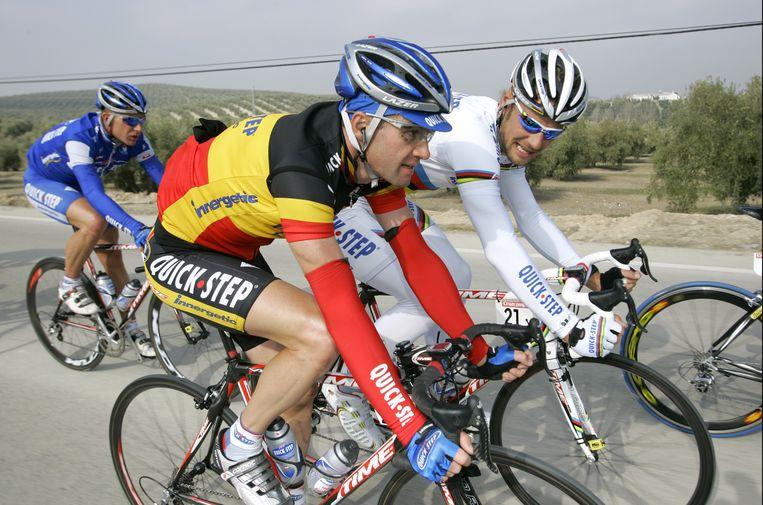 Baguet (links) in overleg met Boonen.