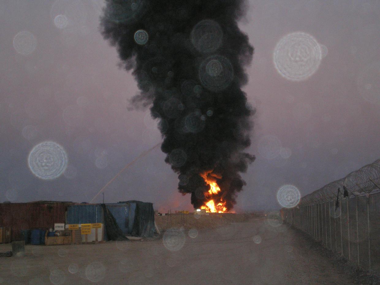 Belgische 'burn-pits' in Afghanistan.