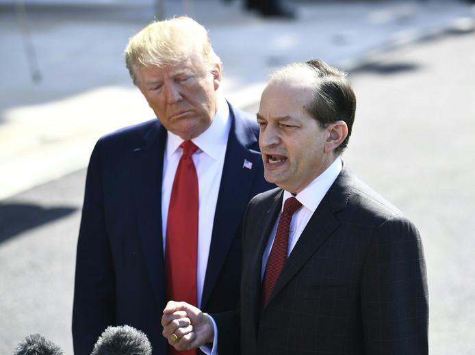 Acosta en president Trump. Acosta stapt op.