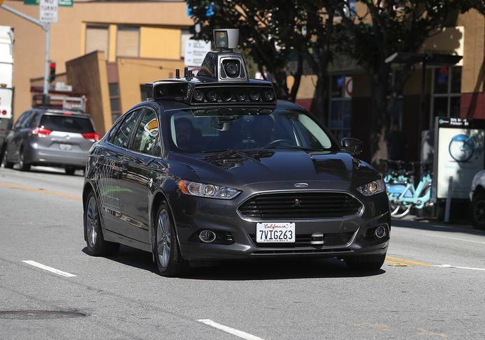 Een zelfrijdende auto van Uber.