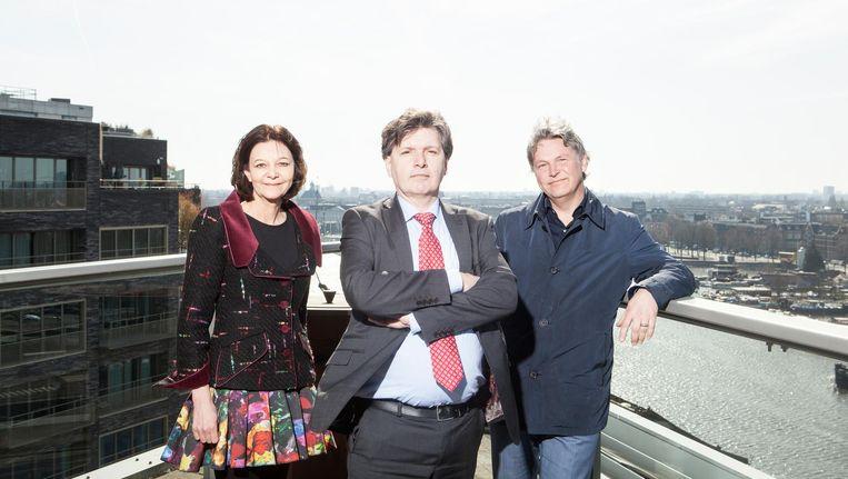 Van links naar rechts: Caroline Receveur, Martin Berendse en Michael Huijser. Beeld Niels Blekemolen