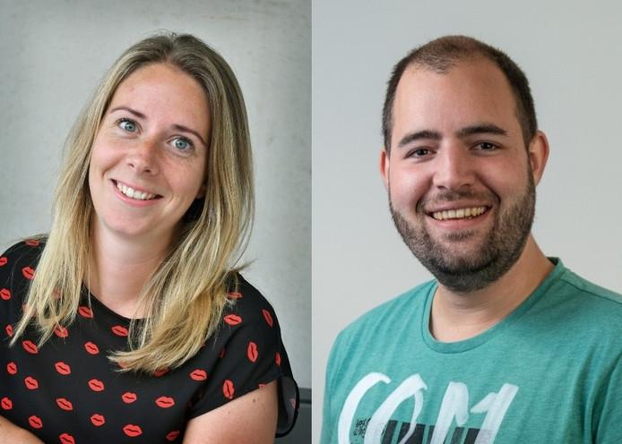 Journalisten Kelly Adams en Wilco Louwes.