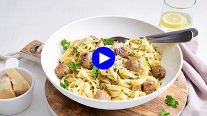 Een snelle pasta carbonara wordt dubbel zo heerlijk met deze makkelijke twist