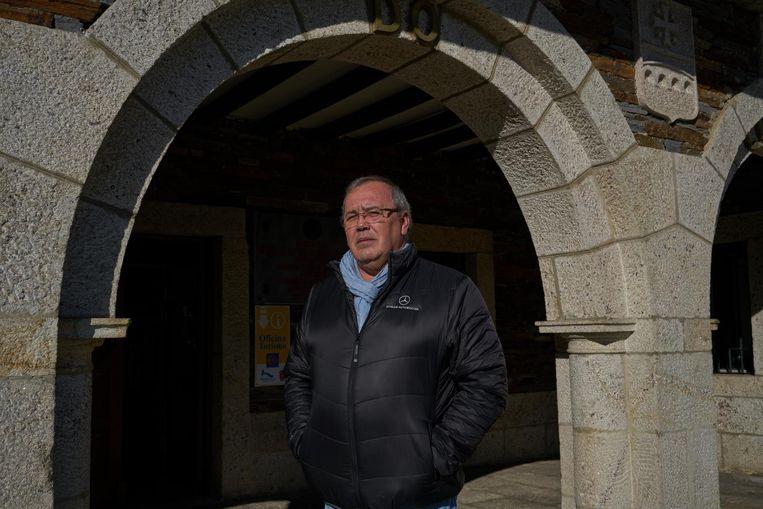 Juan Serrano, burgemeester van Portomarín Beeld Samuel Aranda