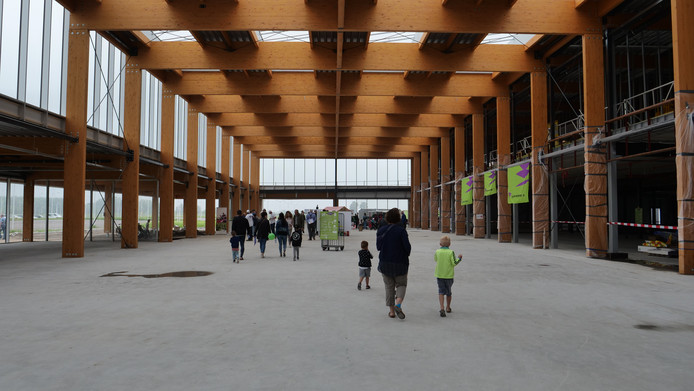 De Dag van de Bouw lokte zaterdag circa 2.000 bezoekers naar Lelystad Airport.