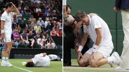 Nicolas Mahut was de pechvogel van de dag op Wimbledon