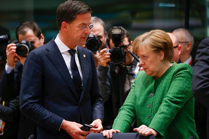Rutte en Merkel tijdens een eerdere ontmoeting