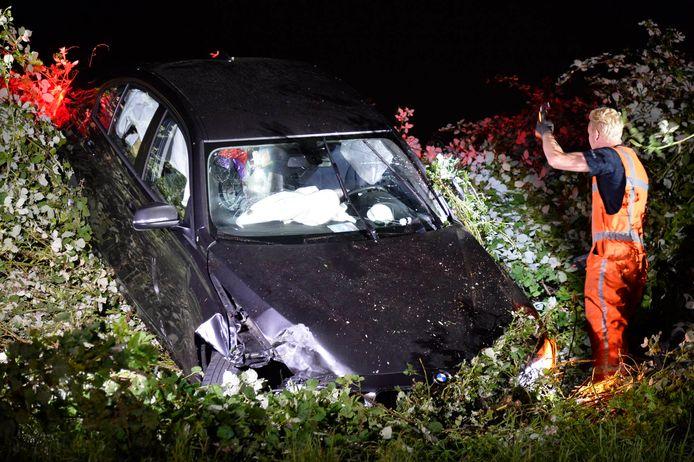 Ongeval op de A58 bij de oprit bij Etten-Leur.