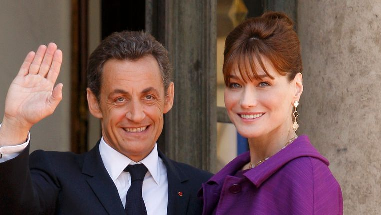 Sarkozy en Bruni. Beeld REUTERS