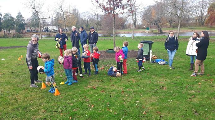 De Guppen en de Turven trainden in het Zuiderpark in Den Bosch.