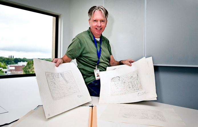 Richard Bronswijk heeft met zijn team valse Picasso-etsen in beslag genomen. De vervalsingen werden als echt aangeboden door een veilinghuis