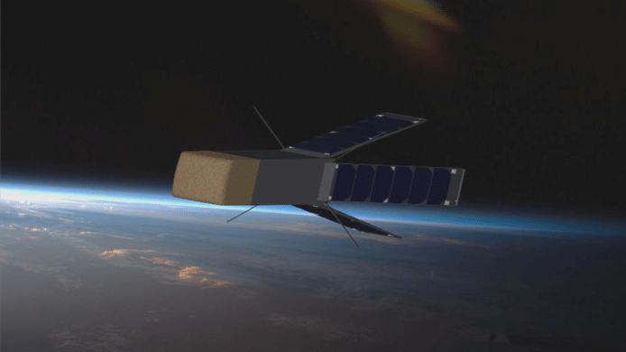 Le nano-satellite QARMAN mesure 38 centimètres de long pour un peu plus de 5 kg