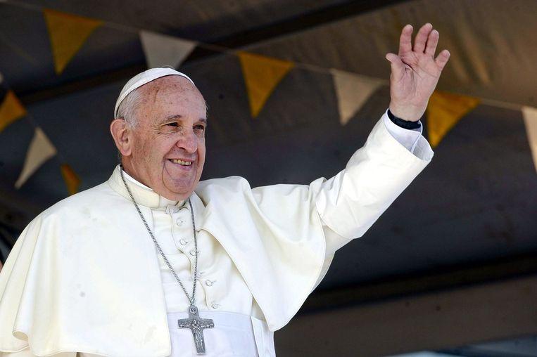 Paus Fransiscus in Paraguay. Beeld epa