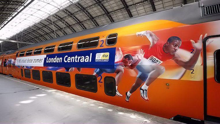 De NS is een van de bedrijven die als officiële sponsor aan de Olympische Spelen in Londen is gekoppeld. Beeld