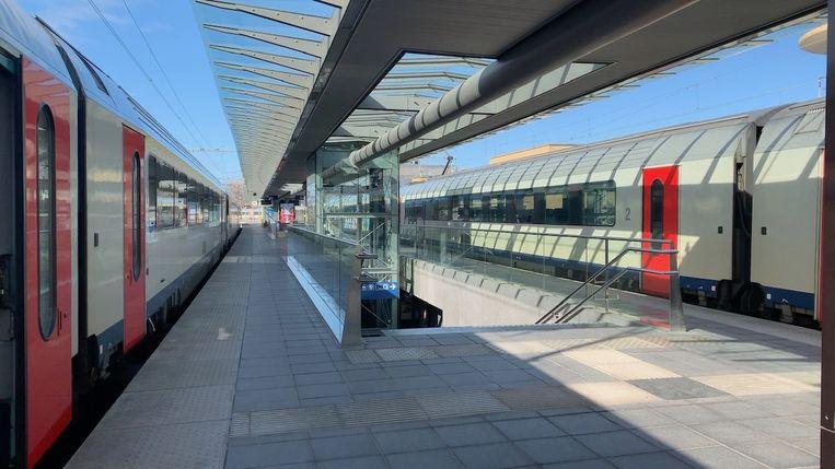 Het station van Brugge, waar de dieven het slachtoffer met zonnecrème bespoten.