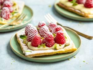 Wat Eten We Vandaag: Snelle bladerdeegtaartjes met banketbakkersroom