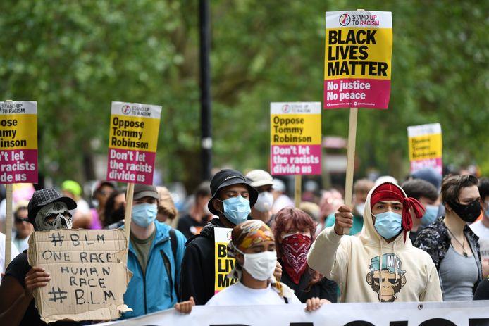 Manifestants à Hyde Park, ce samedi.