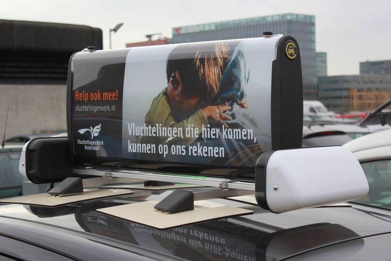 De gemeente heeft TaxiTop, zoals de manier van adverteren wordt genoemd, officieel goedgekeurd. Beeld Cabture