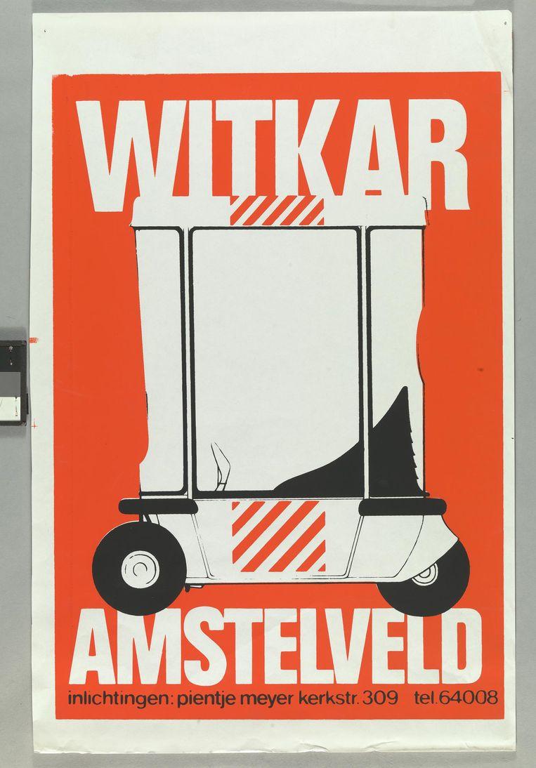 Affiche voor de elektrische witkar, een edeelauto Beeld Collectie Stadsarchief