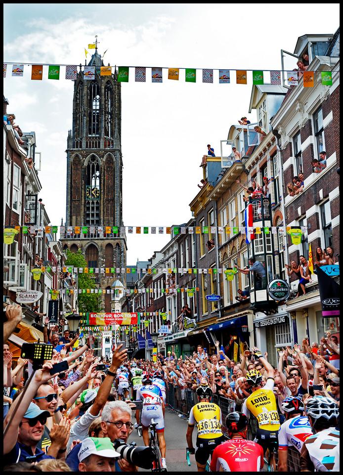 Utrecht tijdens de startt van de Tour de France in 2015