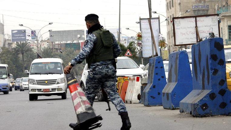 Politie in Bagdad. Beeld epa