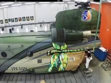 Chinooks Gilze-Rijen versierd voor jubileum squadron