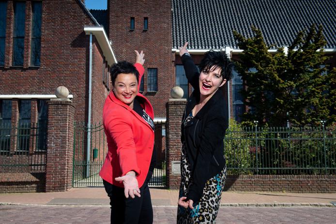 De binnenstadsondernemers Mirjam Kristoffel en Simone Hampsink willen een lifestyle-evenement. Bijvoorbeeld in de Hofkerk.