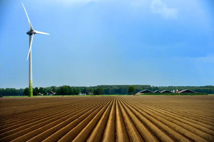 Windmolen van Pure Energie bij Ommen.