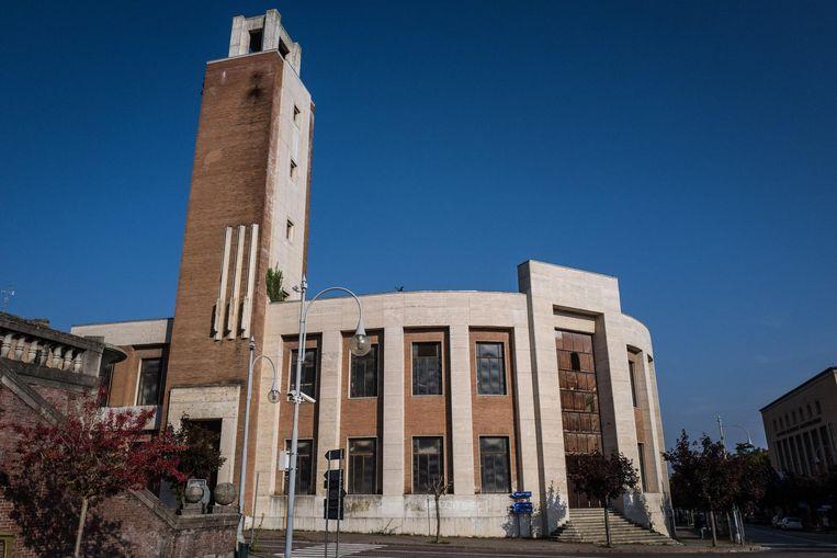 Het gebouw in Predappio waarin de burgemeester van het stadje een fascismemuseum wil vestigen. Beeld null