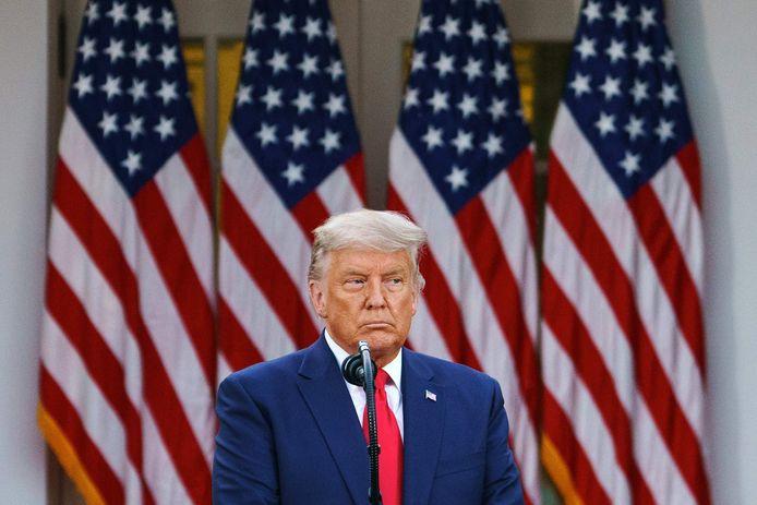 De Amerikaanse president Trump op archiefbeeld.