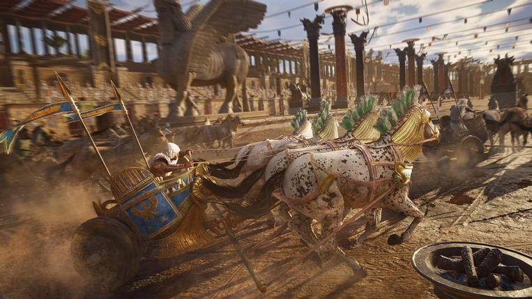 Scènes uit de game Assassin's Creed Prigins. Beeld