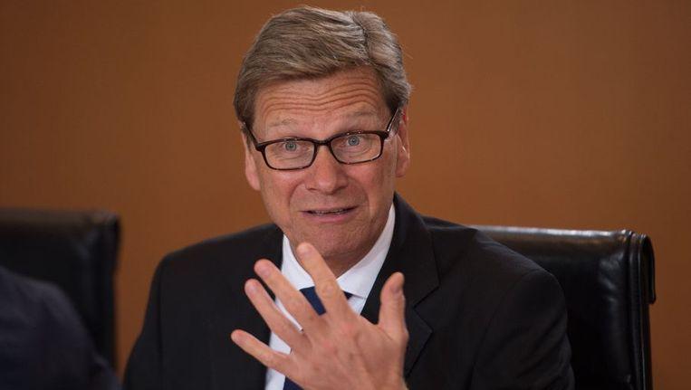 De Duitse minister van Buitenlandse Zaken, Guido Westerwelle. Beeld afp