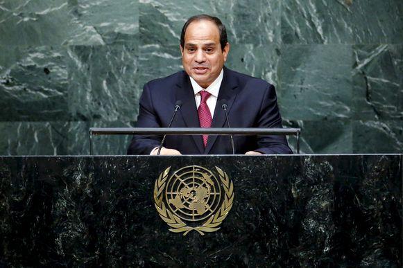 De Egyptische president Abdel Fattah al-Sisi.
