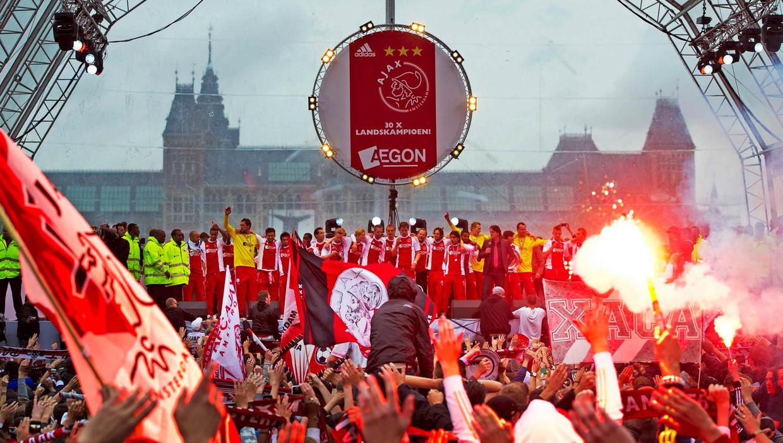 Ajax werd in 2011 voor het laatst op het Museumplein gehuldigd.