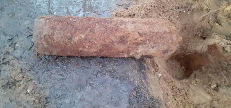 Bom gevonden op mountainbikeroute in Markelo